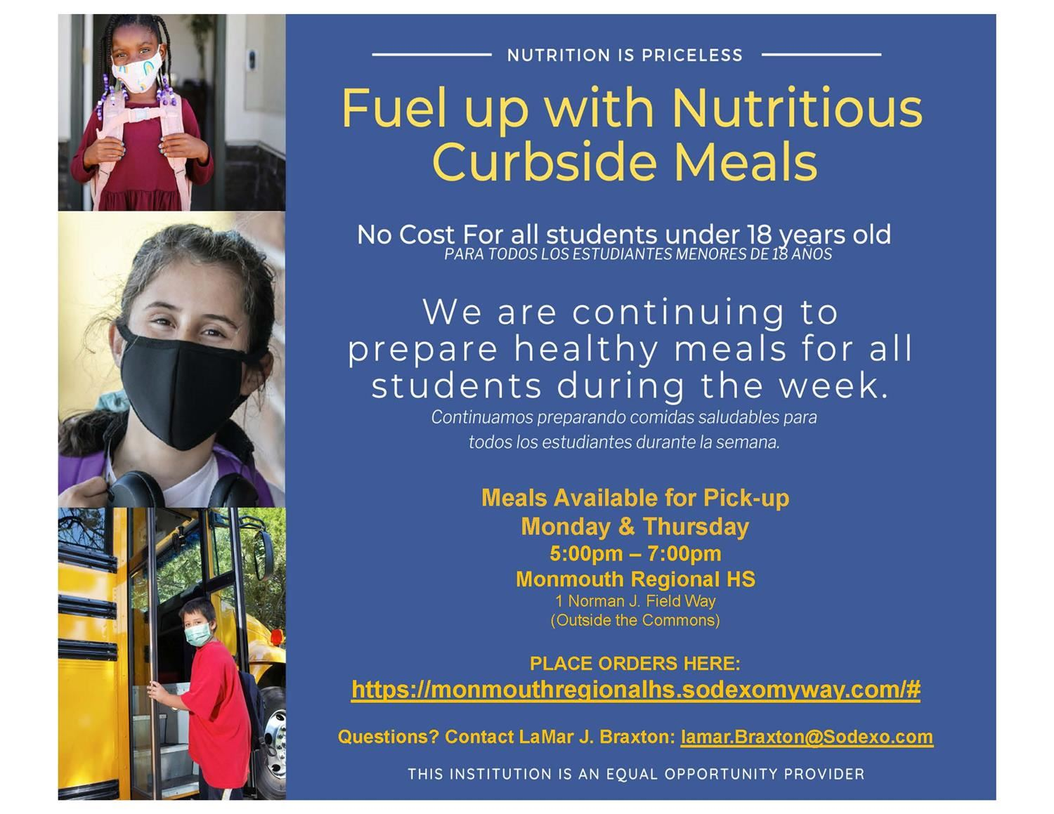 Fuel Up with Nutritious Curbside Meals